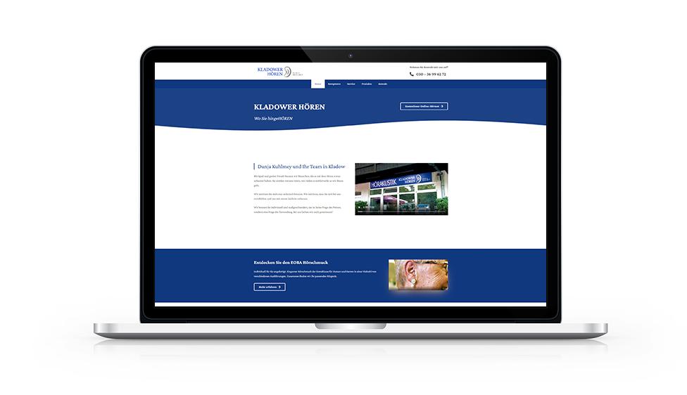 Website Kladower Hören MacBook