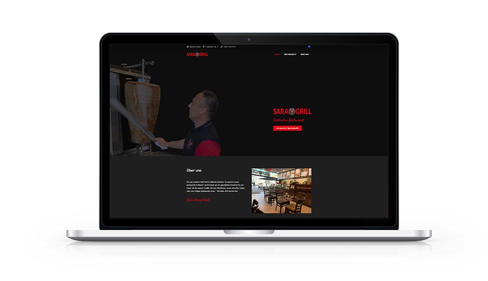 Website Saray Grill MacBook
