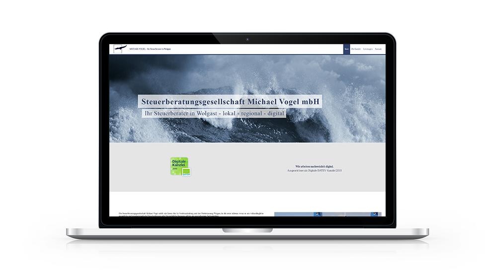 Website Steuerkanzlei Wolgast MacBook