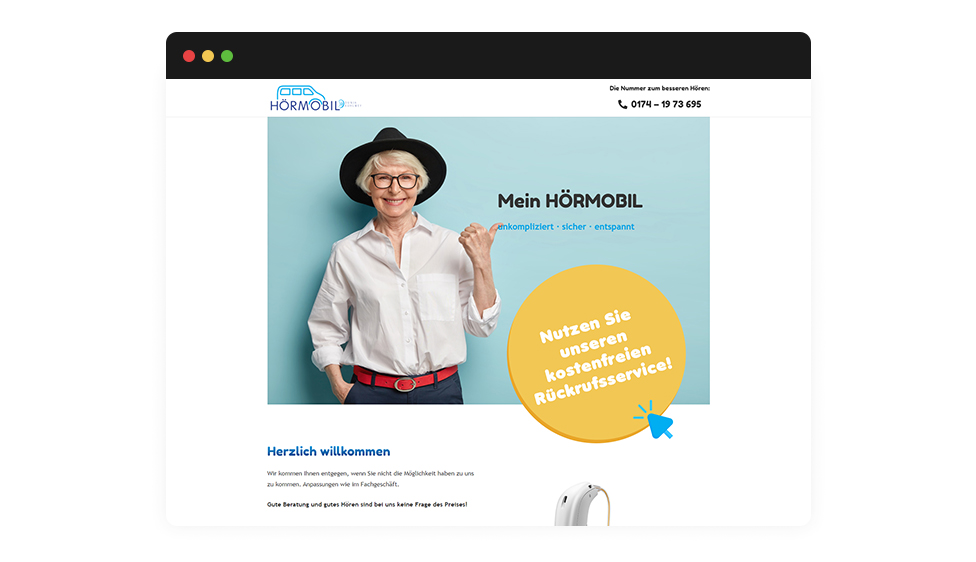 Website Mein Hörmobil Browser